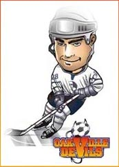 caricatures for hockey cards